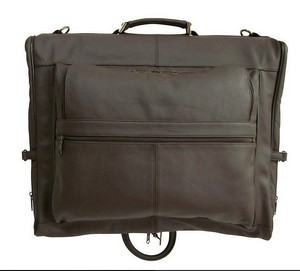 AmeriLeather Leather 3-Suit Garment Bag